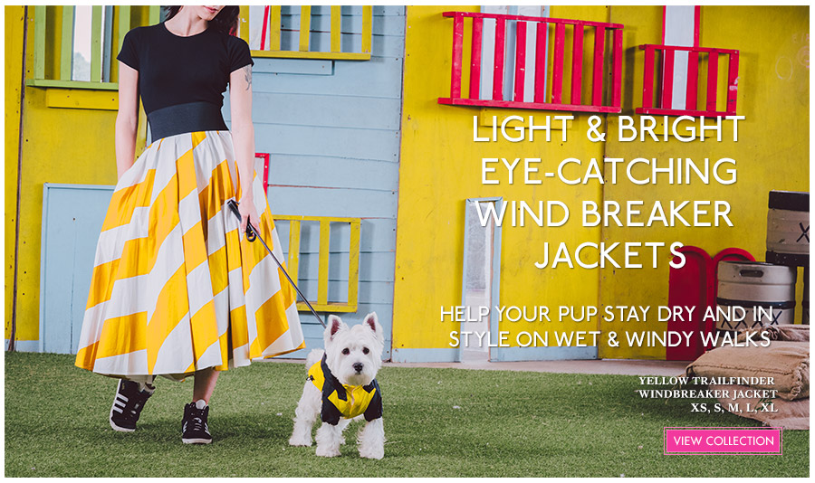 View Urban Pup Light & Bright Spring Dog Jackets. Ideal lightweight dog jackets for Spring