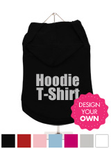 """Design Your Own"" Dog Hoodie / T-Shirt - A fun, funky & distinct dog tank t-shirt with hood. Made from high quality, fine knit gauge, 100% cotton and features a cotton-flex ''xxxDesignxxx'' design."