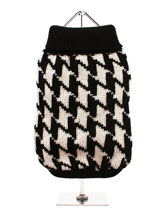 Houndstooth Sweater - This elegant houndstooth sweater is an exceptionally well-made wool sweater that's durable as well as stylish and warm. This classic style creates a distinctive look and just oozes quality.