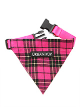 Fuschia Pink Tartan Bandana - Our Fuschia Pink Tartan Bandana is a traditional design which is stylish, classy and never goes out of fashion. Just attach your lead to the D-ring and this stylish Bandana can also be used as a collar. It is lightweight, incredibly strong, stylish and practical.