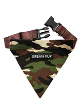 Camouflage Bandana - If you have an action boy or girl this collar will be right up their street. Just attach your lead to the D-ring and this stylish Bandana can also be used as a collar. It is lightweight, incredibly strong, stylish and practical.