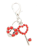 Swarovski Lock & Key Heart Dog Collar Charm - They already have the key to your heart but and what could be a better display of that love than this beautiful charm.