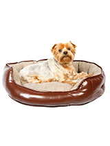 Prince of Wales Patterned Dog Bed - This luxury dog bed is deep filled and the sides are also padded, so no matter what way you dog lies they will have a nice soft but firm support. The trendy smart check is right on trend and the cushion is reversible. Great for warmer conditions when it can be turned for your dog to lie on the cool...