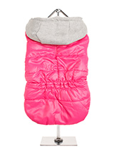 Hot Pink Bodywarmer with Cotton Hood - This Hot Pink Bodywarmer with Cotton Hood is a new hot colour for this season. It has a contrasting grey hood and is just the thing for those cold days and colder nights. Fleece lined to keep your pup snug and warm and includes a leash hole at the neck to allow a harness to be worn underneath. Four...