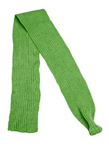 Green Knitted Scarf - Our knitted scarves can be worn in a number of ways. One end of the scarf has an opening so that it can be worn like a tie. Or it can be simply tied around the neck. But whatever way it is worn it is guaranteed to create that casual look while keeping the neck and chest warm.