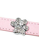 Crystal Paw 18mm Slider (for personalised collars) - Crystal Paw 18mm Slider for accessorising our personalised collar is the perfect accessory for your pampered pet! Why not finish your dogs name with a beautiful crystal paw to add some extra bling to your dogs name.