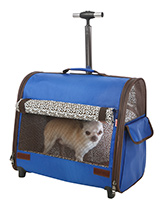 Blue Travel Carrier - This Blue Travel Carrier is an amazing fantastic versatile item. You will wonder how you managed without it. When you extend the telescopic handle it can be used as a wheeled carrier and can be pulled along on its wheels, just like a regular suitcase, the only difference this time is that the conten...