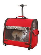 Red Travel Carrier - This Red Trolley Carrier is an amazing fantastic versatile item. You will wonder how you managed without it. When you extend the telescopic handle it can be used as a wheeled carrier and can be pulled along on its wheels, just like a regular suitcase, the only difference this time is that the conten...