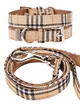 Brown Checked Tartan Fabric Collar & Lead Set - Our Brown Checked Tartan collar & lead set is a traditional design which <br />is stylish, classy and never goes out of fashion. It is lightweight and <br />incredibly strong. The collar has been finished with chrome detailing <br />including the eyelets and tip of the collar. A matching lead, harne...