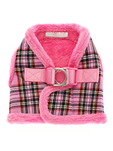 Luxury Fur Lined Pink Tartan Harness - What can we say only that this harness is most definitely the height of luxury. It is soft warm and heavy with a double D-ring for extra security. It is lined with faux fur and finished around the neck and arms again with faux fur for a super comfortable fit and finish. A matching lead is available...