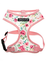 Pink Floral Cascade Harness - Our Floral Cascade Harness is a rich contemporary style and the floral pattern is right on trend. It is lightweight and incredibly strong. Designed by Urban Pup to provide the ultimate in comfort, safety and style. It features a breathable material for maximum air circulation that helps prevent your...