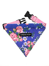 Pink / Blue Floral Burst Bandana - Our Floral Burst Bandana is a rich contemporary style and the floral pattern is right on trend. Just attach your lead to the D ring and this stylish Bandana can also be used as a collar. It is lightweight and incredibly strong. You can be sure that this stylish and practical Bandana will be admired...