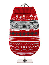 Red Fair Isle Vintage Sweater - We're constantly inspired by heritage designs not only from Britain but also from Scandinavia, especially when those designs are in style as they are this season. A high turtle neck and elasticated sleeves make this sweater extra cosy and the vibrant pattern will brighten up even the greyest of days...