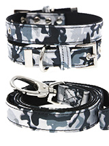 Urban Camouflage Collar & Lead Set - If you have an action boy or girl this Urban Grey Camouflage Collar & Lead Set will be right up their street. It is lightweight and incredibly strong. The collar has been finished with chrome detailing including the eyelets and tip of the collar. A matching lead, harness and bandana are available to...