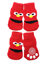 Little Monster Pet Socks - These fun and functional doggie socks protect your dogs paws from mud, snow, ice, hot pavement, hot sand and other extreme weather. Made from 95% cotton & 5% spandex making them comfortable and secure. Each sock features a paw shaped anti-slip silica pad & help keep your house sanitary. (set of 4).
