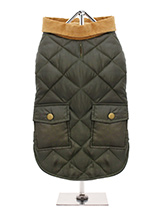Forest Green Quilted Town & Country Coat - Urban Pup's Quilted Town & Country Coat has been crafted for lightweight warmth and unparalleled heritage style. It just oozes class and is perfect for either the city or country. The beautiful soft corduroy collar has an enamel Urban Pup label pin as standard for that on-trend, quality feel. It has...