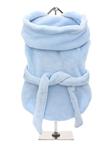 Blue Plush & Fluffy Terry Bathrobe - Our new Super Soft and Plush & Fluffy Terry Bathrobes are made from Plush Micro-fibre, it is so soft you will not want to put it down. Great for wrapping up in after bath time to relax and dry out. It has a matching towelling belt which is attached so as not to fall off and this great for pulling up...