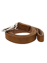 Brown Faux Shearling Lead - Here at Urban Pup our design team understands that everyone likes a coordinated look. So we added a Brown Shearling Fabric Lead to match our Luxury Shearling Harness. This lead is lightweight and incredibly strong.