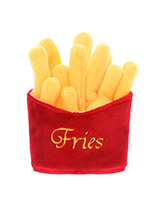 Fries Toy - Who doesn't like a portion of fries? For the complete meal deal team them up our juicy burger and milkshake toys. This classic American fast food toy will keep you dog amused for hours, maybe even long enough for you to eat yours before the begging starts. This toy will provide hours of fun for your...