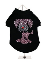 UrbanPup GlamourGlitz Dog T-Shirt - Exclusive GlamourGlitz 100% Cotton Dog T-Shirt. This cute, light hearted design for dog lovers is sure to please your best friend & make a statement about who is the love of your life. Crafted with Pink & Silver Rhinestuds that catch a sparkle in the light. Wear on it's own or match with a GlamourGl...