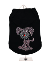 GlamourGlitz UrbanPup Dog Hoodie - Exclusive GlamourGlitz 100% Cotton Hoodie.This cute, light hearted design for dog lovers is sure to please your best friend & make a statement about who is the love of your life. Crafted with Pink & Silver Rhinestuds that catch a sparkle in the light. Wear on it's own or match with a GlamourGlitz ''...