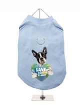 ''Save the Planet'' Harness-Lined Dog T-Shirt