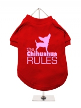 ''The Chihuahua Rules'' Dog T-Shirt