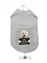 ''Police Mugshot - West Highland Terrier'' Harness-Lined Dog T-Shirt