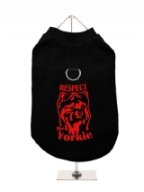 ''Respect The Yorkie'' Harness-Lined Dog T-Shirt