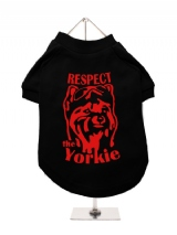 ''Respect The Yorkie'' Dog T-Shirt