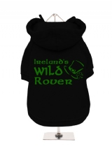 ''St. Patrick: Irelands Wild Rover'' Fleece-Lined Dog Hoodie / Sweatshirt