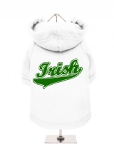 ''St. Patrick: Irish'' Fleece-Lined Dog Hoodie / Sweatshirt