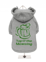 ''St. Patrick: Top O The Morning'' Fleece-Lined Dog Hoodie / Sweatshirt