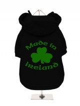 ''St. Patrick: Made In Ireland'' Fleece-Lined Dog Hoodie / Sweatshirt