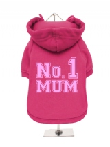 ''Mothers Day: No. 1 Mum'' Fleece-Lined Dog Hoodie / Sweatshirt