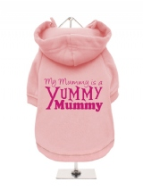 ''Mothers Day: Yummy Mummy'' Fleece-Lined Dog Hoodie / Sweatshirt