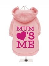 ''Mothers Day: Mum Loves Me'' Fleece-Lined Dog Hoodie / Sweatshirt