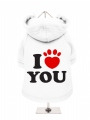 ''I Love You'' Dog Sweatshirt
