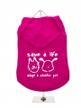 ''Save A Life, Adopt A Shelter Pet'' Dog Hoodie