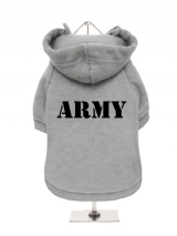 ARMY - Fleece-Lined Dog Hoodie / Sweatshirt