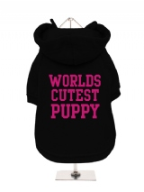 WORLDS | CUTEST | PUPPY - Fleece-Lined Dog Hoodie / Sweatshirt