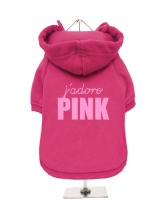 J'ADORE | PINK - Fleece-Lined Dog Hoodie / Sweatshirt